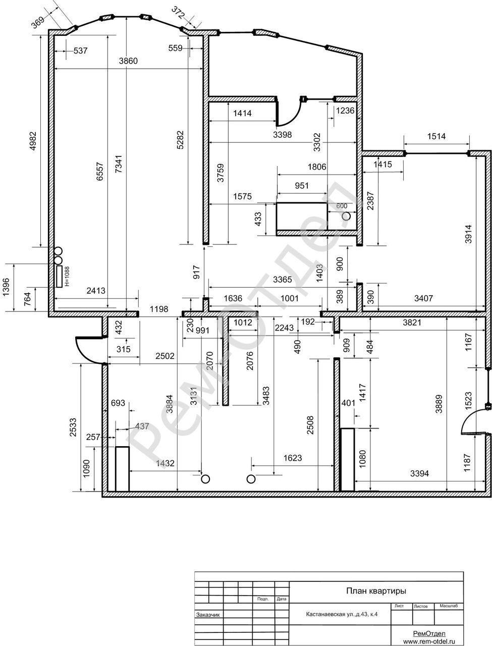 Схема квартиры сериям панельный